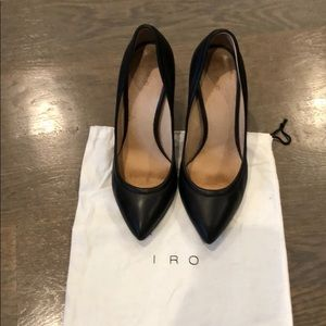 Iro Black Leather heels